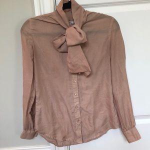Gap tie front blouse